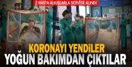 PAÜde iyileşen 2 korona hastası yoğun bakımdan alkışlarla çıktı