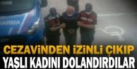 Denizli#039;de cezaevinden izinli çıkıp yaşlı kadını dolandıran 2 kişi yakalandı