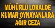 Denizli#039;de mühürlü lokalde kumar oynayanlara 75 bin 600 lira para cezası