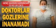 Egekent Hastanesinde genç kadının karnından 20 Kg. ur çıkarıldı