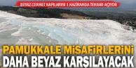 Pamukkale 1 Haziran#039;da misafirlerini daha quot;beyazquot; karşılayacak