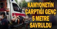 Denizli#039;de kamyonetin çarptığı genç yaralandı