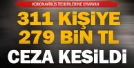 Denizli#039;de koronavirüs tedbirlerine uymayan 311 kişiye ceza