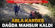Abla-kardeş kamp için gittikleri dağda mahsur kaldı