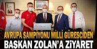 Avrupa Şampiyonu#039;ndan Başkan Zolana ziyaret