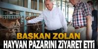 Başkan Zolan canlı hayvan pazarını ziyaret etti