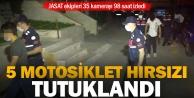 Denizli#039;de motosiklet hırsızlığı iddiasıyla 5 kişi tutuklandı