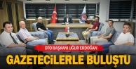 Gazetecilerden DTO Başkanı Erdoğana ziyaret