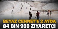 Pamukkale#039;yi normalleşme sürecindeki 2 ayda 84 bin 900 kişi ziyaret etti