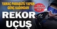 Yamaç paraşütü sporcusu Gülşah Hoş#039;tan,Denizli#039;den Afyonkarahisar#039;a quot;rekorquot; uçuş