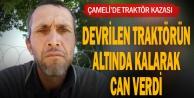 Denizli#039;de şarampole devrilen traktörün sürücüsü öldü