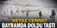 Pamukkale#039;yi bayramda 20 bin kişi ziyaret etti