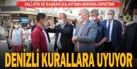 Vali Atik ve Başkan Zolan#039;dan korona denetimi