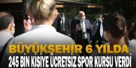 Başkan Zolan: quot;6 yılda 245 bin kişiye ücretsiz spor kursu verdikquot;
