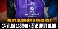 Büyükşehir Sevgi Eli, 14 yılda 138.500 kişiye umut oldu
