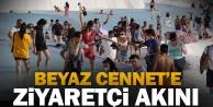 Pamukkale#039;de hafta sonu yoğunluğu yaşanıyor