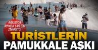 Pamukkale#039;yi ağustosta 145 bin kişi ziyaret etti