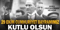 Denizli protokolünden 29 Ekim Cumhuriyet Bayramı mesajları