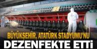 Büyükşehir, Atatürk Stadyumu#039;nu dezenfekte etti