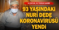 Denizli#039;de evinde Kovid-19 tedavisi gören 93 yaşındaki kişi sağlığına kavuştu