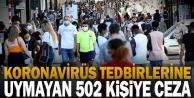Denizli#039;de Kovid-19 tedbirlerine uymayan 502 kişiye ceza