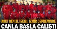 İzmir depreminde görev alan AKUT Denizli ekibi, takdir topladı