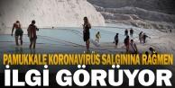 Pamukkale, Kovid-19 salgınına rağmen ilgi görmeye devam ediyor