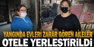 Denizli#039;de fabrika yangınında evleri zarar gören iki aile otele yerleştirildi