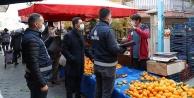 Pamukkale Zabıtası'ndan pazar yerlerinde denetim