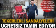 Denizlili hayırsever işçi, tekerlekli sandalyeleri ücretsiz tamir ediyor