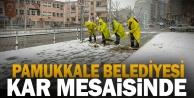 Pamukkale Belediyesi kar mesaisinde
