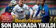 Zorlu Rize deplasmanında son dakikalarda gelen gol Denizlisporu yıktı