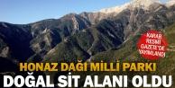 Honaz Dağı Milli Parkı Doğal Sit Alanı olarak tescillendi