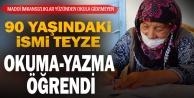 Denizli'de 90 yaşındaki kadın okuma yazma öğrendi