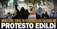 İsrail#039;in Filistinlilere yönelik saldırılarıDenizli#039;de protesto edildi