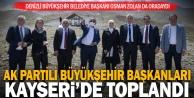 Ak Parti Yerel Yönetimler İstişare Toplantısı Kayseride yapıldı: Başkan Zolan da katıldı