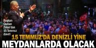 Başkan Osman Zolandan 15 Temmuz daveti