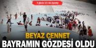 quot;Beyaz cennetquot; Pamukkale#039;yi bayramda 121 bin kişi ziyaret etti