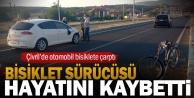 Çivril#039;de otomobilin çarptığı bisiklet sürücüsü hayatını kaybetti