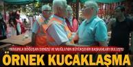 Denizli Büyükşehir Belediye Başkanı Osman Zolan ile Muğla Büyükşehir Belediye Başkanı Osman Gürünün örnek buluşması