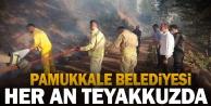 Pamukkale Belediyesi yangınlara karşı teyakkuzda