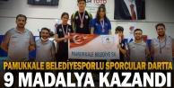 Pamukkale Belediyesporlu sporcular dartta 9 madalya kazandı