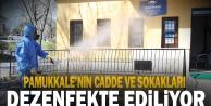 Pamukkale'nin cadde ve sokakları dezenfekte ediliyor