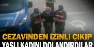 Denizli'de cezaevinden izinli çıkıp yaşlı kadını dolandıran 2 kişi yakalandı