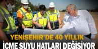 Yenişehir'de 40 yıllık içme suyu hatları değişiyor
