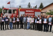 Muhtarlara yangın eğitimi