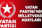 Denizli'de Vatan Partisi'nin 24 Haziran milletvekili adayları
