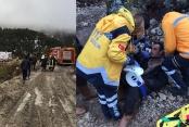 Üzerine tomruk düşen orman işçisi yaralandı