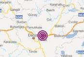 Honaz'da 3.3 büyüklüğünde deprem