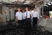 Başkan Örki'den yangın mağduru minibüsçülere ziyaret